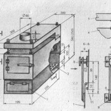 Изготовление и чертежи печки буржуйки, как сделать буржуйку для дачи своими руками, печь буржуйка для дома